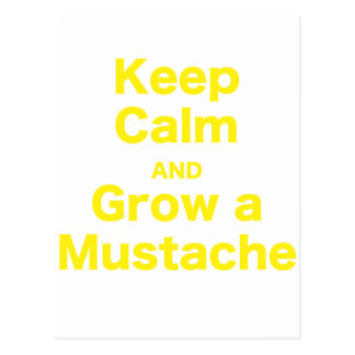 Guarde la calma y crezca un bigote postal