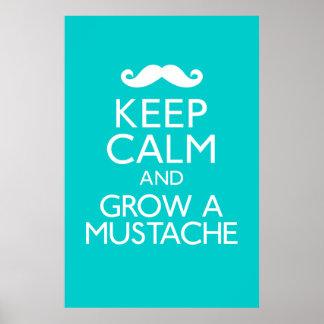 Guarde la calma y crezca un poster del bigote