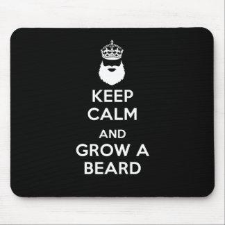 Guarde la calma y crezca una barba alfombrilla de ratones