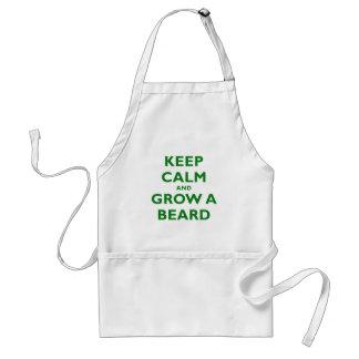 Guarde la calma y crezca una barba delantal