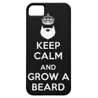 Guarde la calma y crezca una barba iPhone 5 carcasas