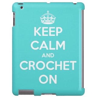 Guarde la calma y Crochet en azul