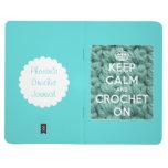 Guarde la calma y Crochet en el diario personaliza Cuadernos