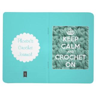 Guarde la calma y Crochet en el diario personaliza Cuadernos Grapados