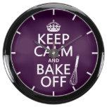 Guarde la calma y cueza apagado reloj aqua clock