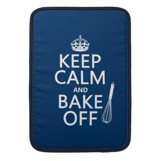 Guarde la calma y cueza de (cocinando) (los colore funda  MacBook
