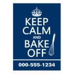 Guarde la calma y cueza de (cocinando) (los colore tarjeta de visita