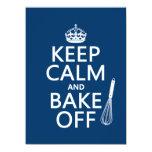 Guarde la calma y cueza de (cocinando) (los invitacion personal