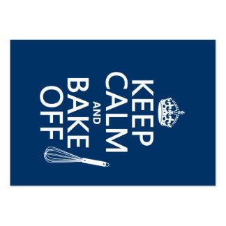 Guarde la calma y cueza de (cocinando) (los tarjetas de visita grandes