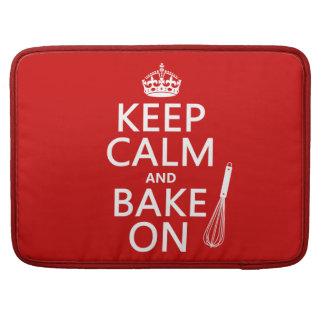 Guarde la calma y cueza en (cocinando) (el color d funda macbook pro
