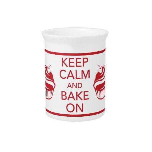 Guarde la calma y cueza en la jarra