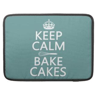 Guarde la calma y cueza las tortas (el color del p fundas para macbooks