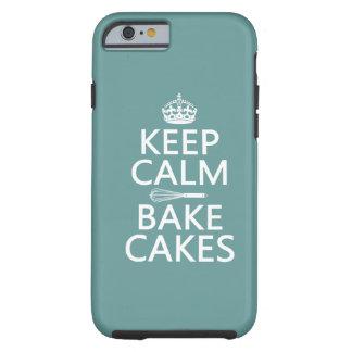 Guarde la calma y cueza las tortas (el color) funda de iPhone 6 tough