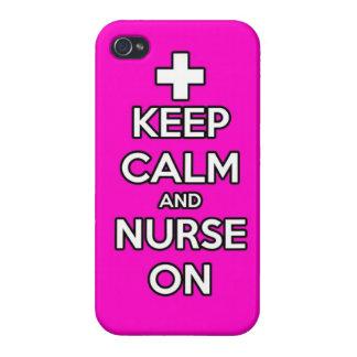guarde la calma y cuide en el oficio de enfermera  iPhone 4/4S fundas