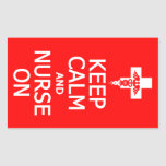 Guarde la calma y cuide en los pegatinas rectangular altavoces