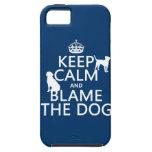 Guarde la calma y culpe el perro - todos los color iPhone 5 cárcasa