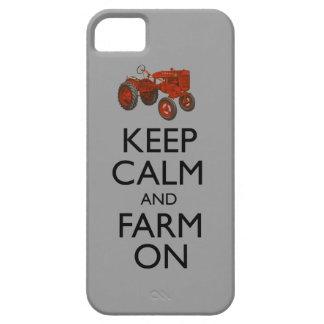 Guarde la calma y cultive encendido iPhone 5 Case-Mate coberturas