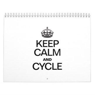 GUARDE la CALMA Y CYCLE.ai Calendarios De Pared
