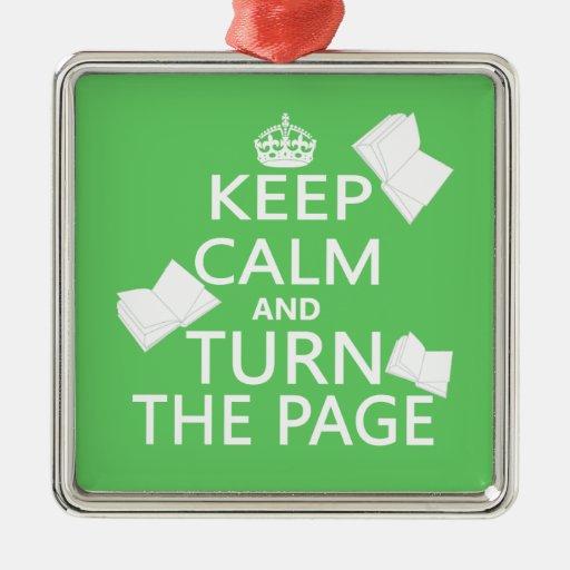 Guarde la calma y dé vuelta a la página ornamento de reyes magos