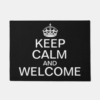 Guarde la calma y déla la bienvenida