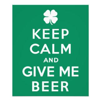 Guarde la calma y déme la cerveza impresiones fotograficas