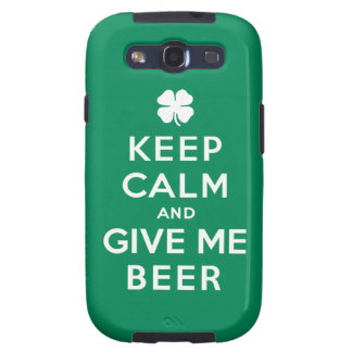 Guarde la calma y déme la cerveza galaxy SIII protector