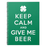 Guarde la calma y déme la cerveza libretas