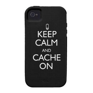 Guarde la calma y deposítela encendido vibe iPhone 4 carcasas