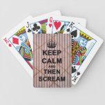 Guarde la calma y después grite baraja cartas de poker