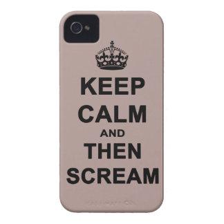 Guarde la calma y después grite iPhone 4 Case-Mate protectores