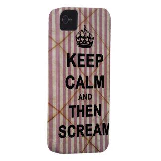 Guarde la calma y después grite iPhone 4 Case-Mate coberturas