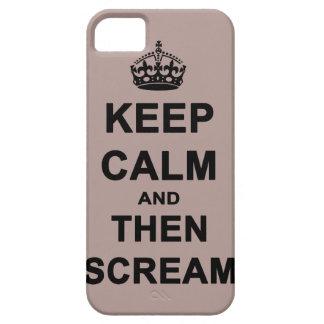 Guarde la calma y después grite iPhone 5 carcasas