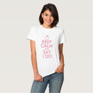 Guarde la calma y diga que lo hago camisas