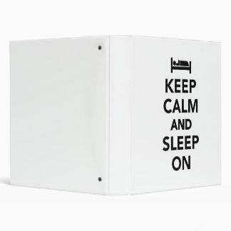 Guarde la calma y duerma encendido carpeta 2,5 cm