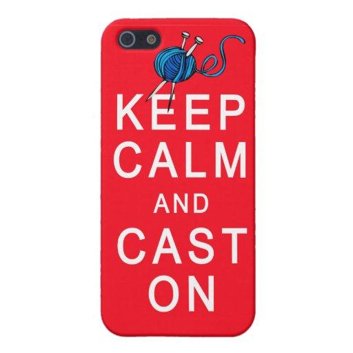 Guarde la calma y eche en la camiseta o el regalo  iPhone 5 funda