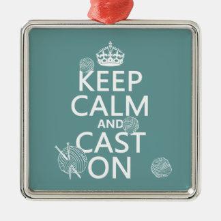 Guarde la calma y eche encendido - todos los color adornos de navidad