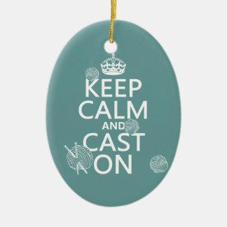 Guarde la calma y eche encendido - todos los color ornamente de reyes
