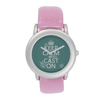 Guarde la calma y eche encendido - todos los color reloj de mano