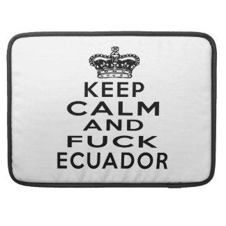 GUARDE LA CALMA Y ECUADOR FUNDA PARA MACBOOKS