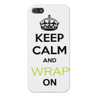 Guarde la calma y el abrigo flaco en el caso del i iPhone 5 fundas