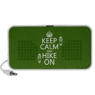 Guarde la calma y el alza en (cualquier color de f laptop altavoz
