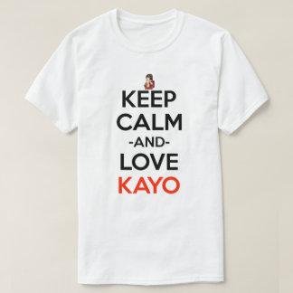 Guarde la calma y el amor para kayo la camisa de