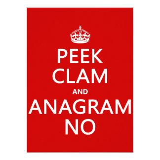 Guarde la calma y el anagrama en en cualquier col invitacion personal