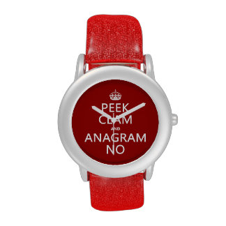 Guarde la calma y el anagrama en (en cualquier col relojes de mano