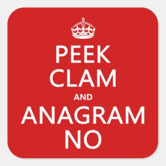 Guarde la calma y el anagrama en (en cualquier pegatina cuadrada