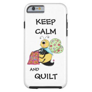 Guarde la calma y el arte banal de la abeja de la funda de iPhone 6 tough