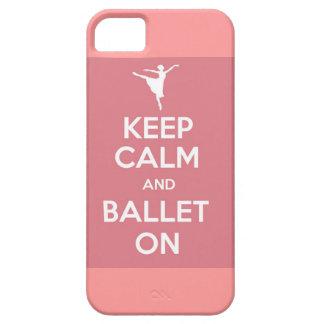 Guarde la calma y el ballet en el caso del iPhone iPhone 5 Fundas