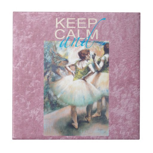 Guarde la calma y el ballet en los regalos únicos tejas