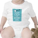 ¡Guarde la calma y el banjo encendido! Traje De Bebé