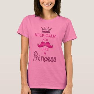 Guarde la calma y el bigote como una princesa playera